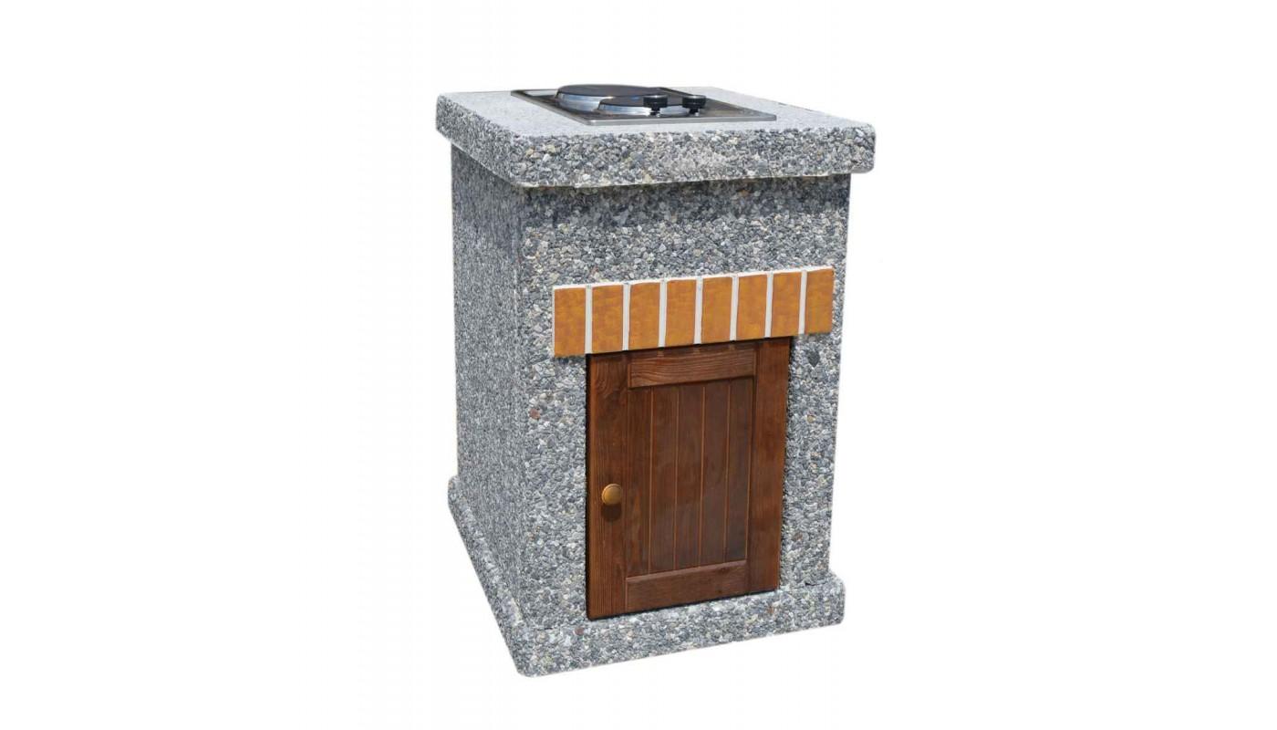Стол - плита ТИТАН Литл с фасадными дверцами
