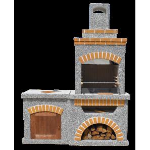 Камин-Барбекю  «Манчестер Комфорт» с фасадными дверцами