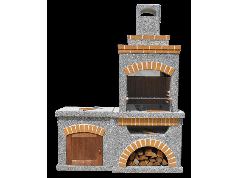 Камин-Барбекю  «Манчестер Комфорт» с фасадными дверцами купить