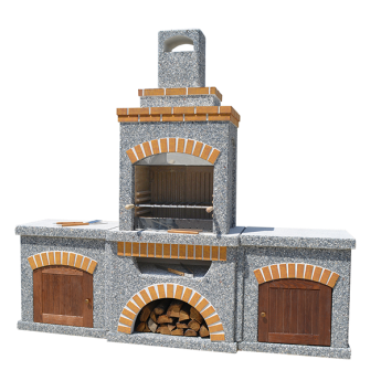 Камин-Барбекю  «ТИТАН Гранд» с фасадными дверцами
