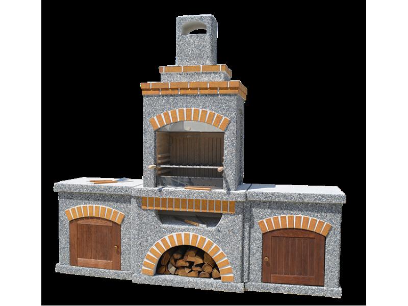 Камин-Барбекю  «Манчестер Гранд» с фасадными дверцами купить