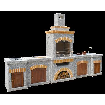 Камин-Барбекю  «Манчестер Империал» с фасадными дверцами