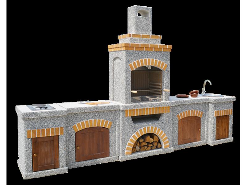 Камин-Барбекю  «Манчестер Империал» с фасадными дверцами купить