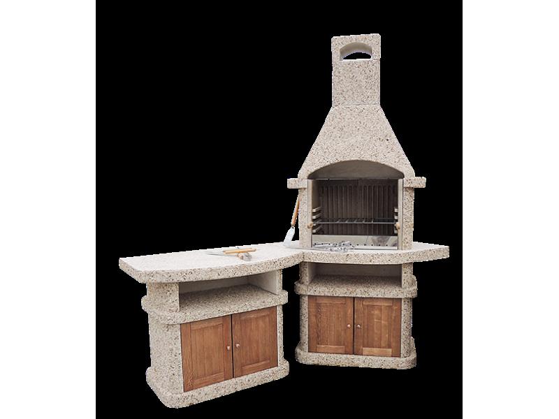 Камин-Барбекю  «АФИНА Комфорт» с фасадными дверцами купить