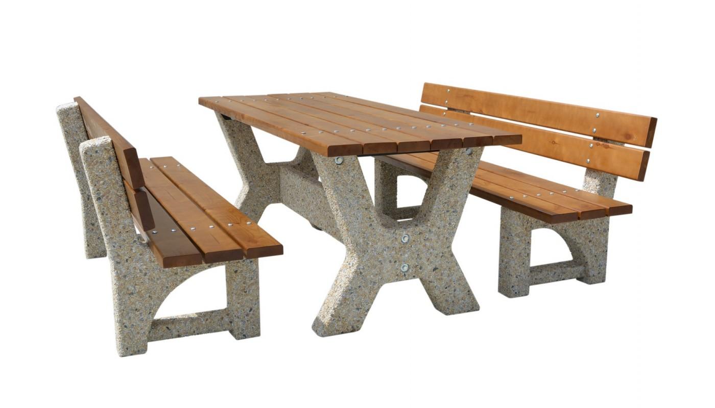 """Стол  """"Гарден со скамейками"""""""